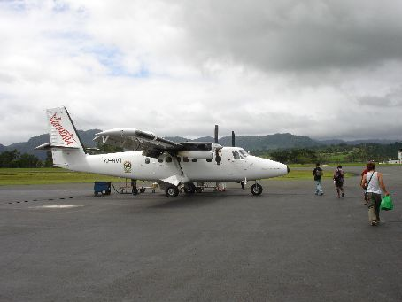Our Plane to Tanna just after the Earthquake tremor
