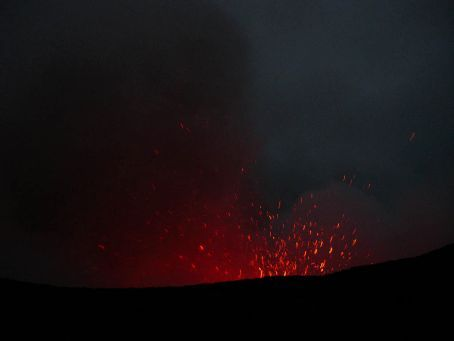 Yassur Volcano at night