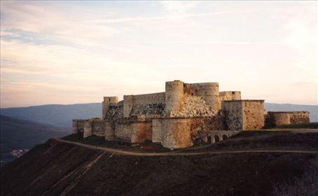 Crak de chevaliers, Syria. A very formidable Crusader castle