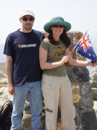 Ian & Tam on Top of Australia