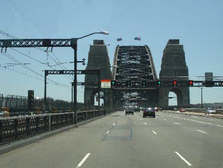 On Sydney harbour bridge