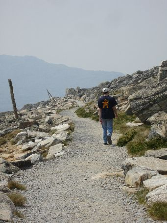 Walking back down Mt Kosciusko