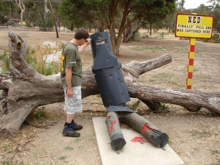 Ian delivers the knock out blow. Glenrowan - Ned Kelly fell here