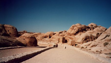 Start of the Wadi that leads to Petra, Jordan