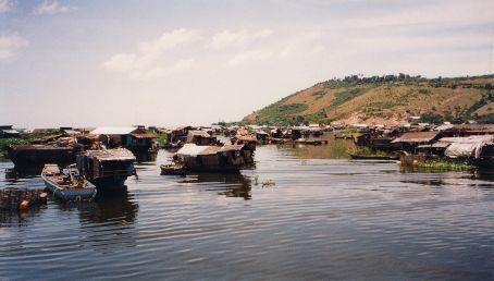 Floating village on the Tonle Sap