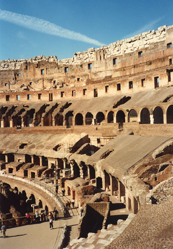 Inside the Colesseum, Rome