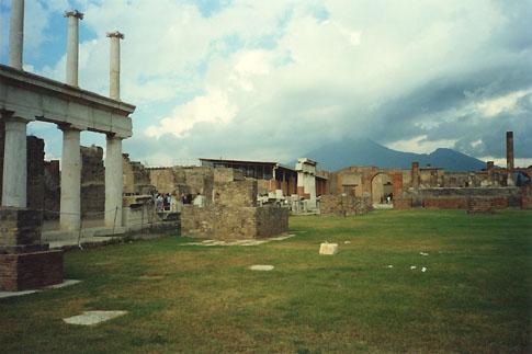 Pompei, with Mt Vesuvius in the background