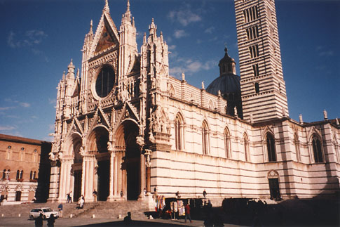 The Duomo cathedral in Sienna, Tuscany, Italy