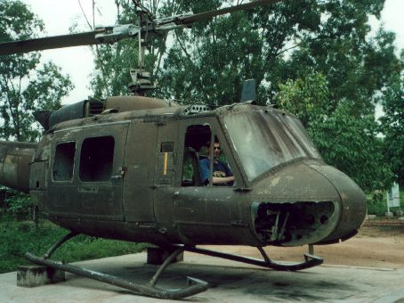 My flying skills may be as rusty as this Huey...