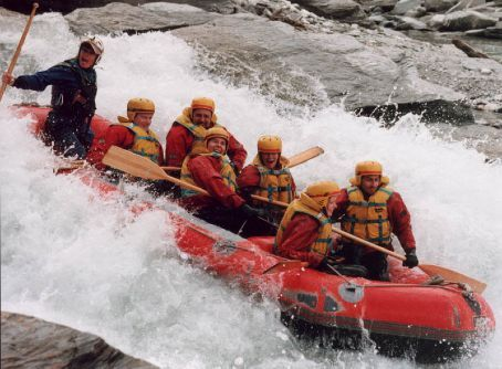 Me (at the front) white water rafting