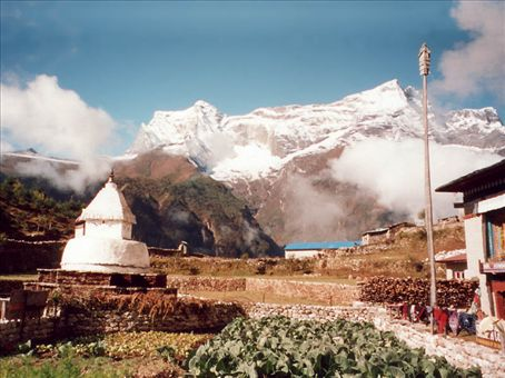 Namche Bazzar on the way to Everest