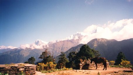 views on Annapurna trek