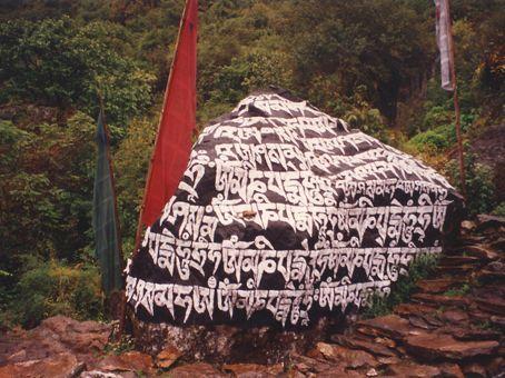 A chorten on the trek to Mt Everest