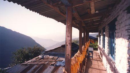 Drying corn to make popcorn! In the Annapurnas, Nepal