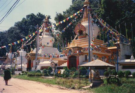 At the base of the Monkey Temple, Kathmandu