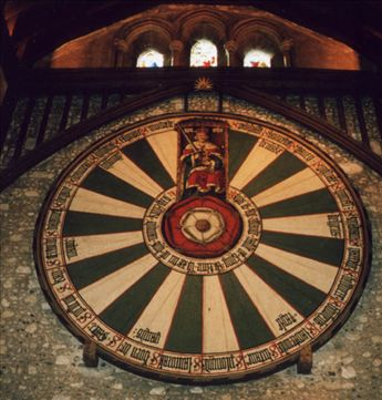 Arthur's round table (or a great big dartboard)