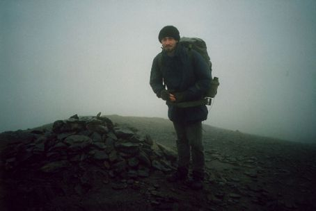 On top of Blencathra in thick cloud