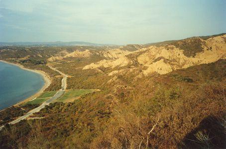 Gallipoli - View over Anzac Cove & Suvla bay from Plugges Plataue