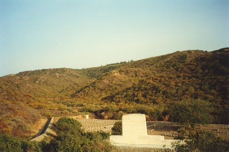 Gallipoli - Shrapnel gully looking towards Lone Pine. Not much cover from the hills above...