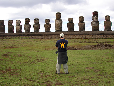 A nomad greeting 15 moai