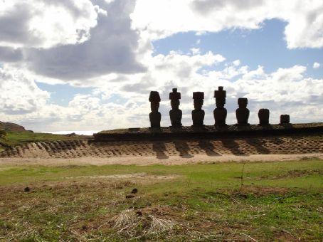 The original DEVO lineup on Ahu Nau Nau, at Anakena beach, Easter Island