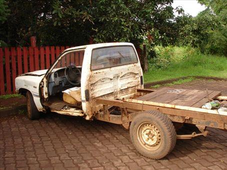 A fairly average car in Hanga Roa - they get acid rain + sea salt spray so cars dont last very long.