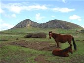 Rano Raraku volcano, where the main Moai quarry is.: by stowaway, Views[1399]