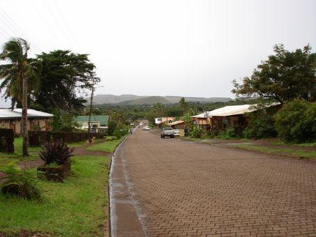Main Street of Hanga Roa looking North