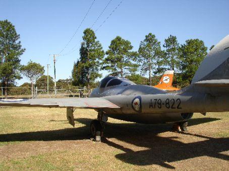 RAAF Vampire at Fighter World, Williamtown