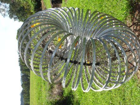 Bicycle wheel sculpture, Thurday Tea Tree Plantation, Ballina, NSW