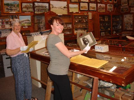 Having fun researching our family histories at the Bellingen Museum