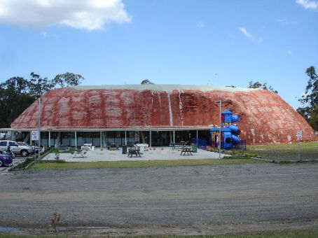 The rock. or whats left of it at the long-gone Leyland Brothers World on the NSW mid coast at Karuah
