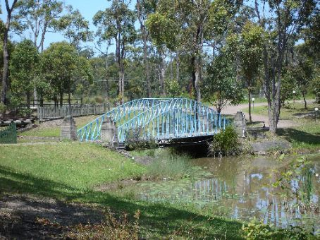 Sad replica of the Sydney Harbour bridge in the old Leyland Brothers World