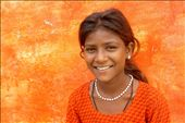 An Indian girl smiles inside free education centre at a  remote villa: by sucheta, Views[444]