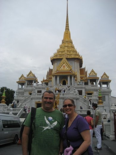 Outside Wat Traimit (the Temple of the Golden Buddha)