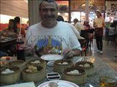 Dim sum in Chinatown, with the Aussie chopstick man