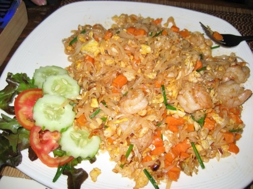 ...and more of Phaet's tasty Pad Thai, this one with Shrimp
