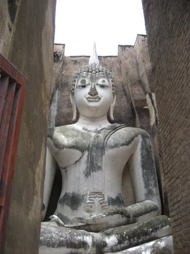This impressive Buddha is 15 metres high