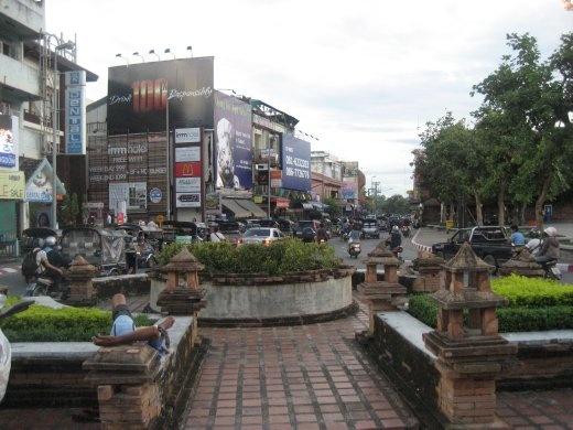 Near Chiang Mai's Tha Pae Gate