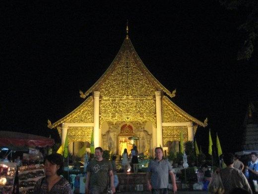 Wat Chedi Luang...spectacular at night.