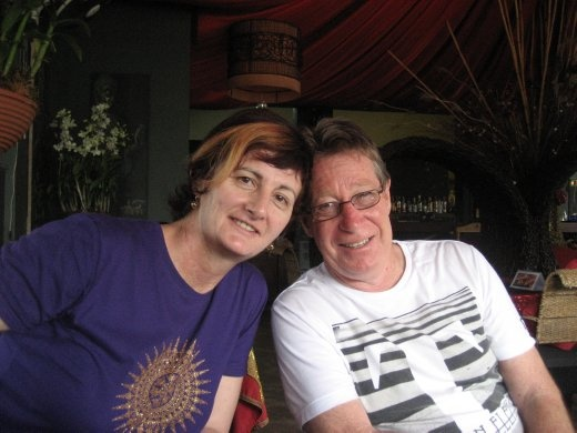 Gayle & Wayne in Hot Chilli Restaurant for lunch