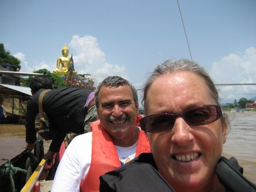 Long boat trip on the mighty Mae Khong River