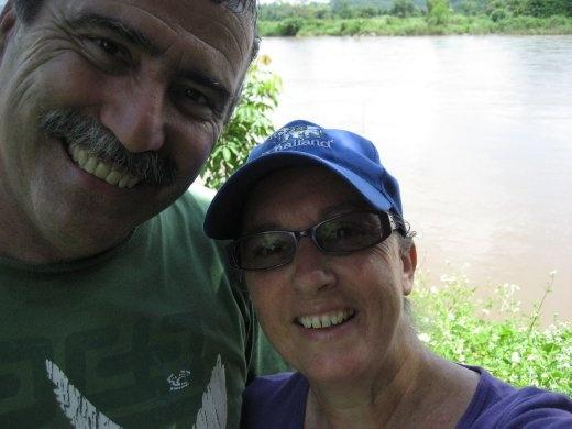 Beside the Mae Kok River