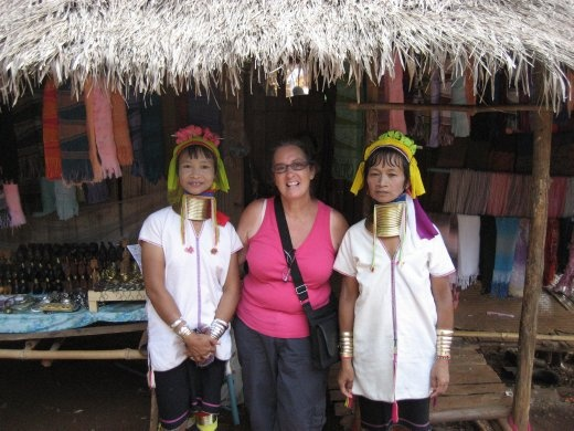 With 2 lovely long neck ladies