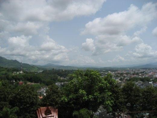 Thachilek, Myanmar & the hills of Myanmar taken from Mae Sai, Thailand