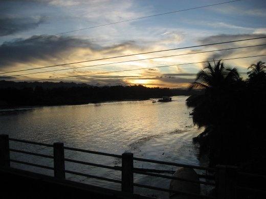 River Khwae at sunset