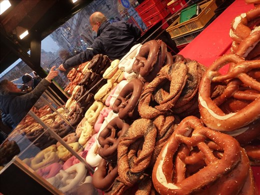 Pretzels the size of a dinner plate. So many flavours to choose from