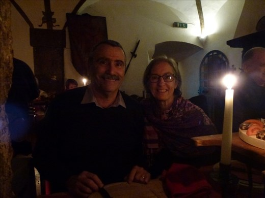 Dining medieval style in Hall.