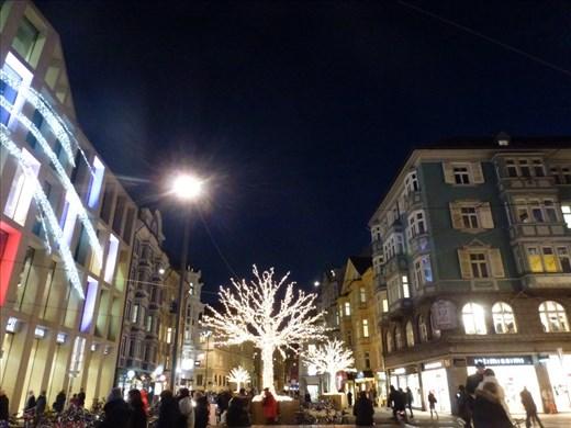 The streets of Innsbruck sparkling for Christmas