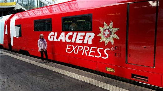 Travelling through the Alps on the Glacier Express